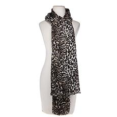 Collection 18 Brushed Leopard-Print Wrap