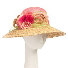 Collection 18 Dressy Downturned Brim Straw Hat