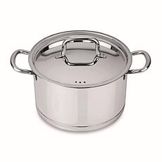 """CollectNCook 9.5"""" 18-10 Stainless Steel Cove Stockpot 6.6 qt."""