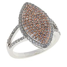 Colleen Lopez 0.79ctw Pink Diamond and White Diamond Marquise Ring