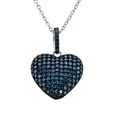 Colleen Lopez 0.90ctw Colored Diamond Heart Pendant with Chain