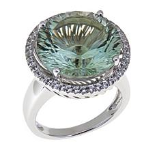 Colleen Lopez 10.49ctw Prasiolite and White Topaz Ring