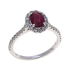 Colleen Lopez 1.21ctw Oval Precious Gem and Zircon Ring