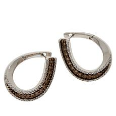 Colleen Lopez .12ctw White and Colored Diamond Hugger Earrings