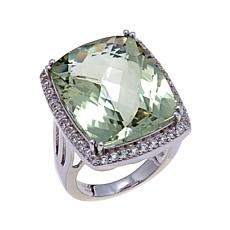 Colleen Lopez 17.13ctw Prasiolite and White Topaz Ring
