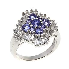 Colleen Lopez 2.42ctw Tanzanite and White Topaz Sterling Silver Ring
