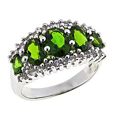 Colleen Lopez 2.64ctw Chrome Diopside and White Topaz Ring