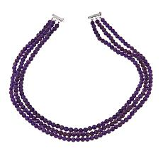 "Colleen Lopez 3-Row Gemstone Bead 18"" Necklace"