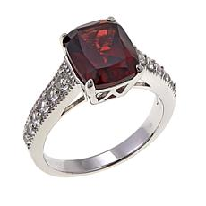 Colleen Lopez 3.13ctw Mozambique Garnet and White Topaz Ring
