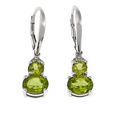 Colleen Lopez 3.14ct Peridot and White Zircon Drop Earrings
