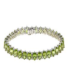 "Colleen Lopez 35.7ctw Marquise Peridot and White Topaz 7-1/2"" Bracelet"