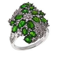 Colleen Lopez 3.77ctw Chrome Diopside and Zircon Ring