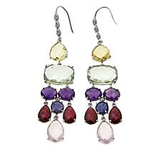 Colleen Lopez 47.02ctw Multigemstone Chandelier Earrings
