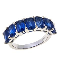 Colleen Lopez 4.9ctw Emerald-Cut Kyanite Band Ring