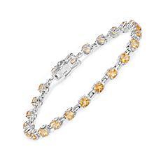 Colleen Lopez 5.02ctw Round Citrine Line Bracelet