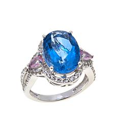 Colleen Lopez 6.79ctw Color-Change Fluorite & Gem Ring