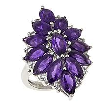 Colleen Lopez 7.53ctw Marquise Amethyst and White Topaz Ring