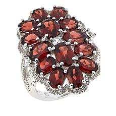 Colleen Lopez 8.51ct Garnet and White Topaz Multi-Stone Ring