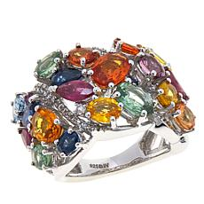 Colleen Lopez 9.31ctw Multi Sapphire and Gem Band Ring