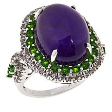 Colleen Lopez Amethyst, Chrome Diopside and White Topaz Ring