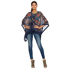 Colleen Lopez Art Viewing Printed Kimono Top