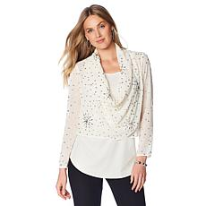 Colleen Lopez Beaded Twofer Top