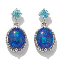 Colleen Lopez Blue Opal Triplet and Apatite Earrings