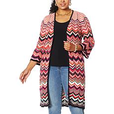Colleen Lopez Chevron Duster Cardigan
