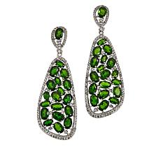 Colleen Lopez Chrome Diopside and White Topaz Drop Earrings
