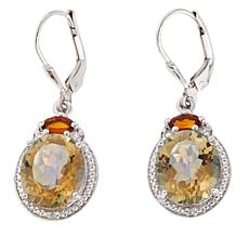Colleen Lopez Colored Quartz and Gem Drop Earrings