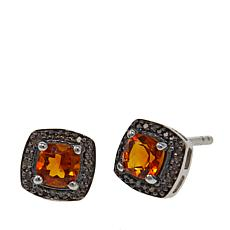 Colleen Lopez Cushion-Cut Gem & Diamond Sterling Silver Stud Earrings
