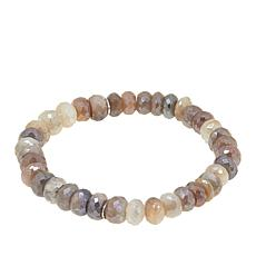 Colleen Lopez Faceted Moonstone Bead Stretch Bracelet