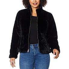 Colleen Lopez Faux Fur Zip-Front Jacket