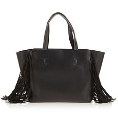 Colleen Lopez Fringe Faux Leather Tote