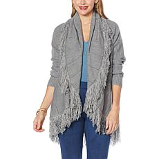 Colleen Lopez Fringe Sweater Cardigan