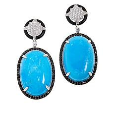 Colleen Lopez Gemstone, Black Spinel and White Zircon Earrings