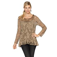 Colleen Lopez Grace Crochet Top with Camisole