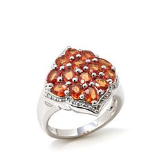 "Colleen Lopez ""Gracious Glamour"" Orange Sapphire Ring"