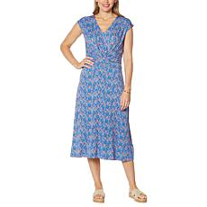 Colleen Lopez Knot Front Midi Dress