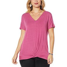Colleen Lopez Knot-Front Tee