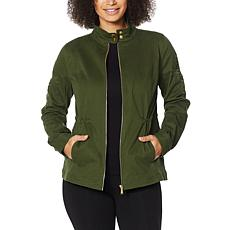 Colleen Lopez Lace Applique Twill Jacket