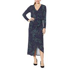 Colleen Lopez Long-Sleeve Surplice Maxi Dress