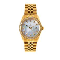 Colleen Lopez Mother-of-Pearl Dial and White Zircon Bracelet Watch