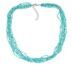 Colleen Lopez Multi-Strand Gemstone Beaded Necklace