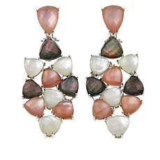 Colleen Lopez Multicolor Mother-of-Pearl Doublet Drop Earrings