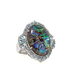 "Colleen Lopez ""Oceanside"" Abalone Doublet Ring"