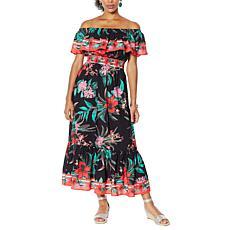 Colleen Lopez Off-the-Shoulder Flounce Dress