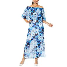 Colleen Lopez Off-the-Shoulder Flutter Dress