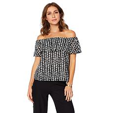 Colleen Lopez Off-the-Shoulder Ruffle Top