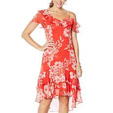Colleen Lopez One Shoulder Ruffle Dress